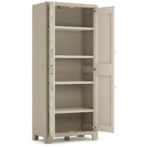 dtails kis gulliver armoire haute plastique beige x x cm with armoire basse exterieur. Black Bedroom Furniture Sets. Home Design Ideas