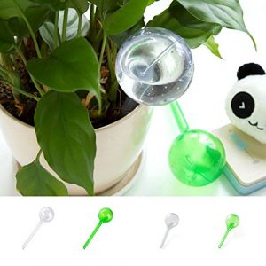 Plante d'globes, Woopower Dispositif d'arrosage automatique–Plante d'intérieur Pot de fleurs ampoule Globe–Maison pour jardin–Utilisation facile des systèmes d'arrosage automatique à suspendre s:13*5cm/5.12″*1.97″ green