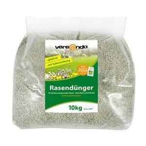 Engrais gazon à partir de – marque versando – 10 kg pour env. 300 m² de gazon – sans mousse ou mauvaises herbes, engrais NPK avec effet immédiat