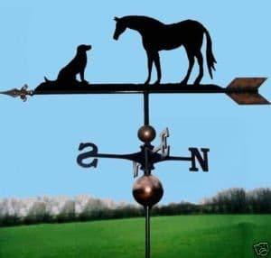 Hoodmania Girouette cheval &chien, fabriqué à la main, très haute qualité