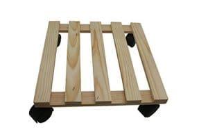 DKB Stylo à roulettes Plante Pot en bois massif bois rectangulaire 30x 30cm