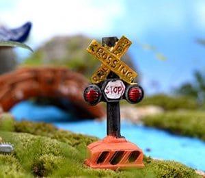 Huihuger Lovely Jardin Féérique miniature signalisation Ornement pour bonsaï Paysage Décoration (Stop)