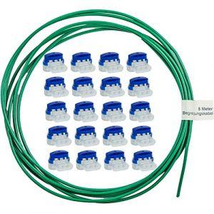 LoHaG Lot de 20 raccords de câbles dans une boîte pratique + câble de délimitation de 5 m – Kit de réparation – Idéal pour tondeuse à gazon robot tondeuse à gazon rouge – Connecteurs étanches et résistants aux intempéries