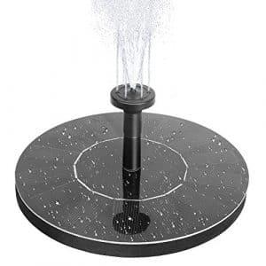 Pompe à eau solaire Beva de 1,4 W, pour fontaine et bain d'oiseaux, avec différentes têtes de pulvérisation pour bassin, piscine et décoration de jardin