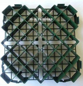 Professionnelle rasengitter plastique wegbegrenzung 64Stk = 9,6qm-fixation au sol
