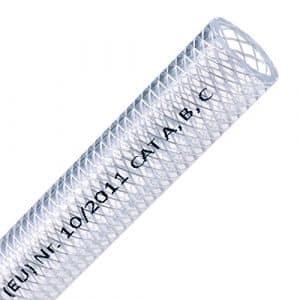 FLEXTUBE TX Ø 16 mm x 3,5 mm (5/8″) en PVC – Tuyau – Tuyau en tissu comme tuyau à air comprimé ou tuyau alimentaire EU10/2011 A, B, C