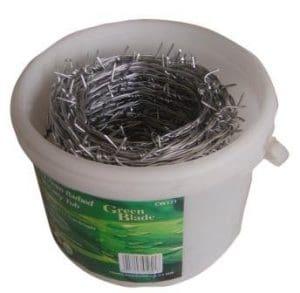 Hamble Distribution ltd Green blade bb-cw121 fil barbelé galvanisé livré dans un seau de transport 30 m x 1,7 mm