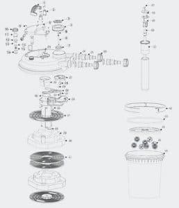 SunSun Pièce détachée Filtre à Pression Bio CPF-180/250 15 x 1,8 Joint torique