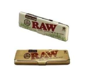 1Raw classique et 1Raw biologique King size fin de boîtes en métal Coque combo vendus par Trendz