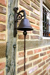Antikas Cloche, jolie cloche pour le jardin, qui a du cachet sur la porte d'entrée comme une antiquité et avec un son superbe