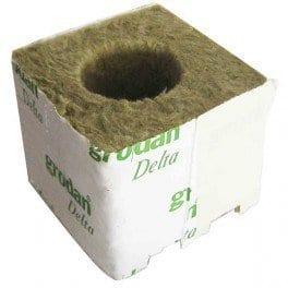 Cubes de laine de roche 75x75x65 par 8 Ø38mm – Grodan