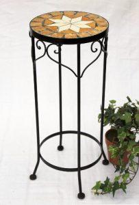 DanDiBo Tabouret porte-fleurs Merano 54 cm Mosaïque 12011 Support de fleurs Tabouret rond Table d'appoint