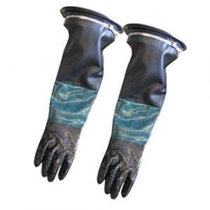 Fenteer 1 Paire Gants de Protection de Travail Gants Antidérapants Sableuse – 60cm #1