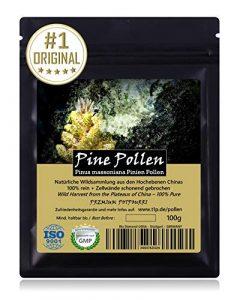 PINE POLLEN (Pollen de pin) – Produit de qualité supérieure de l'original | Certifié ISO-9001 | Issu d'une récolte naturelle | Cru | 100g