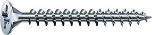Spax A2J – 1081010350123 4CUT Vis universelle cruciforme à tête fraisée Filetage galvanisé total, 1081010500703
