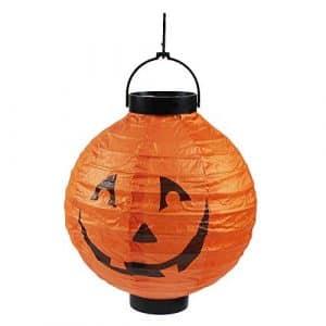 TONVER Citrouille d'halloween Lanterne, LED Lampe Bat lanternes de Papier pour fête d'halloween Bar Haunted House Décorations à Suspendre