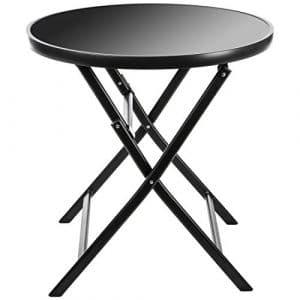 Ultranatura Table de Terasse Pliante en Aluminium, Gamme Korfu Plus, Anthracite