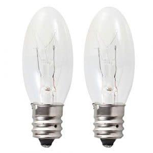 Uonlytech Lot de 2Ampoules de Lampe de sel de Remplacement de Longue durée 15W E12Douille Chaude Chandelier Lampe Ampoules