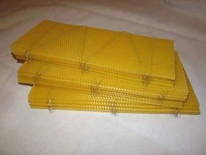 Beekeeping Supplies UK Lot de 30 Fonds de Teint en Cire d'abeille pour supers Britanniques