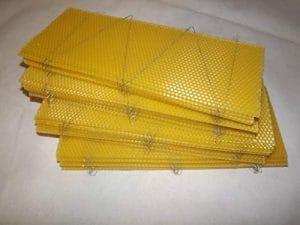 Beekeeping Supplies UK Lot de 40 Fonds de Teint en Cire d'abeille pour supers Britanniques