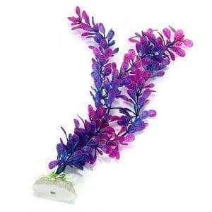 Carry stone Usine Artificielle de Faux d'herbe Pourpre Artificielle en Plastique pour l'aquarium Durable et utile