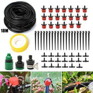 KING DO WAY Kit De Réglable Irrigation Goutte À Goutte Arrosage Micro Arroseur Avec 20 Pcs Goutteurs DIY Pour Jardin Serre (18M)