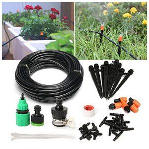 Kits d'Irrigation Pathonor Kit Micro Irrigation Système d'Arrosage Goutte à Goutte de Jardin DIY Système d'Arrosage 15M Nouveau Système d'Irrigation de Bricolage