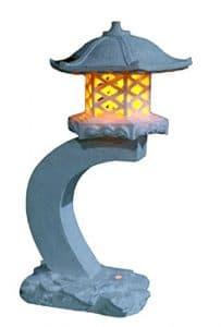Lanterne japonaise hauteur TIAAN 61CM lampe de jardin solaire lampe pagode solaire