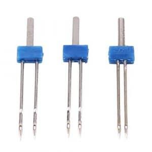 LnLyin 3PC Durable Double Twin Needles pins Machine à Coudre Accessoires Neuf