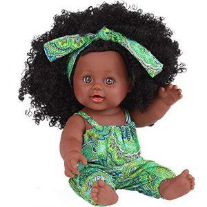 conqueror Black Girl Dolls Poupées Afro-américaines Poupées de Jeu de bébé de 12 Pouces réalistes Antistress Stressante Jouet Cadeau de Nouvel an Pas Cher Kawai Mini Parfumé Cadeau Thanksgiving