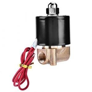 Électrovanne électrique en laiton G1 / 4″AC N/C de la manière 110V de DN8 2 normalement fermée pour le laiton solide d'air-air, action directe