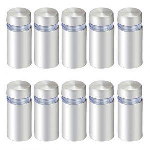 HSEAMALL Lot de 10 supports de fixation en verre pour vis d'espacement 12 x 25 mm