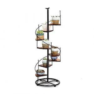 MILAYA JI Bin Shop® Salon européen de la Sculpture Pastorale en Bois Massif Porte de Fleurs en Bois Massif Petite Table Ronde Étagères Blanches ++ (Taille : L)