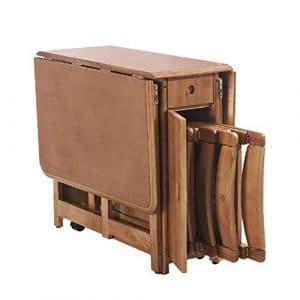 Nwn Table de Salle à Manger Pliante rétractable Combinaison Moderne Minimaliste en Bois Massif Rangement Multifonctionnel Petit Ordinateur de Bureau