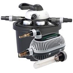 VELDA 126311Filtre sous Pression Kit Complet pour Bassin jusqu'à 10000l + Pompe, 9W UV C, Clear Control Set