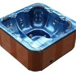 Whirlpool Extérieur Bain À Remous Troy Spa avec 44 Jets De Massage + Chauffage + Désinfection À L'ozone + éclairage pour 5 – 6 Personnes pour Lampe extérieure