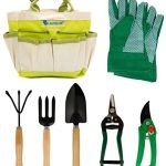 Lantelme 5124 Plantes outils de jardin avec housse en polyester/métaL/lois 7 pièces