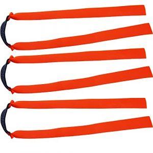 Lot de 10 bandes élastiques plates Mangobuy – En caoutchouc – Fuselées – Remplacement pour lance-pierre d'extérieur en bois – Pour chasse -, Orange