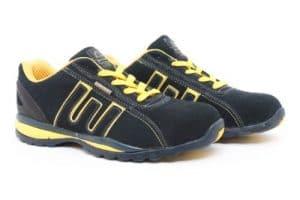 T 'Adore–Chaussures de Course à Pied en Montagne de matériau synthétique pour Homme Multicolore Multicolor – Navy Yellow 12 UK
