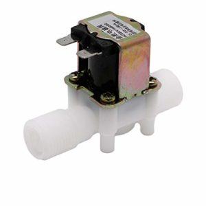 BIlinli Electrovanne Électrique AC220V Interrupteur De Débit D'entrée d'air De l'eau N/C Magnétique N/C 1/2″