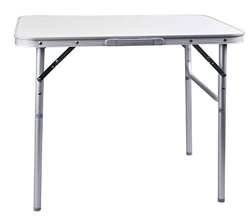 Camp Active Table de Camping Pliante en Aluminium 75x 55cm Table de Jardin Table d'appoint Pliable Table de Pique-Nique Table en Aluminium Pliable et réglable en Hauteur
