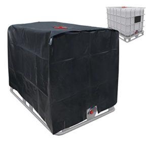 ECD-Germany Bâche réservoir IBC 120x100x116cm 1000 LTR Capot de Protection UV Couverture de réservoir d'eau en Aluminium