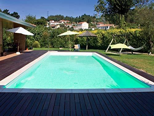 SunKit Piscine Acier rectangulaire 7x3x1.5m Liner Sable