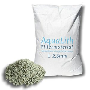 25 kg matériau filtrant zéolite 1-2.5 mm pour les étangs, les étangs de natation