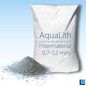 25kg filtre Matériau zéolite 0,7-1,2mm pour koiteiche, jardin étang, bassin ornementales et étang