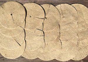 Chimney Sheep Lot de 20 Tapis de paillage en Jute Naturelle 25 cm
