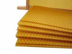 Beekeeping Supplies UK Unwired Super Foundation 20 Feuilles de Cire d'abeille 100% Cire d'abeille