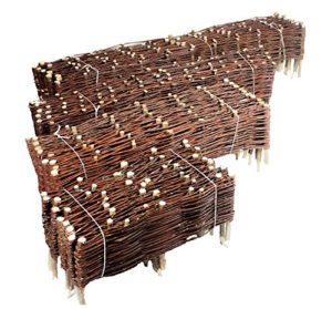 Nature LOUNGE Bordure en osier pour plate-bande Pour plate-bande ou délimitation de jardin Plusieurs tailles 30 x 100 cm 10er Set naturel