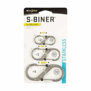 Nite Ize S-Biner SlideLock en Acier Inoxydable – Lot de 3 S-Biner SlideLock en Acier Inoxydable – Lot de 3 – INOX, N/A