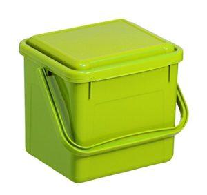 Rotho 1770505519 Bac à compost Bio Plastique Vert 21 x 20 x 18 cm